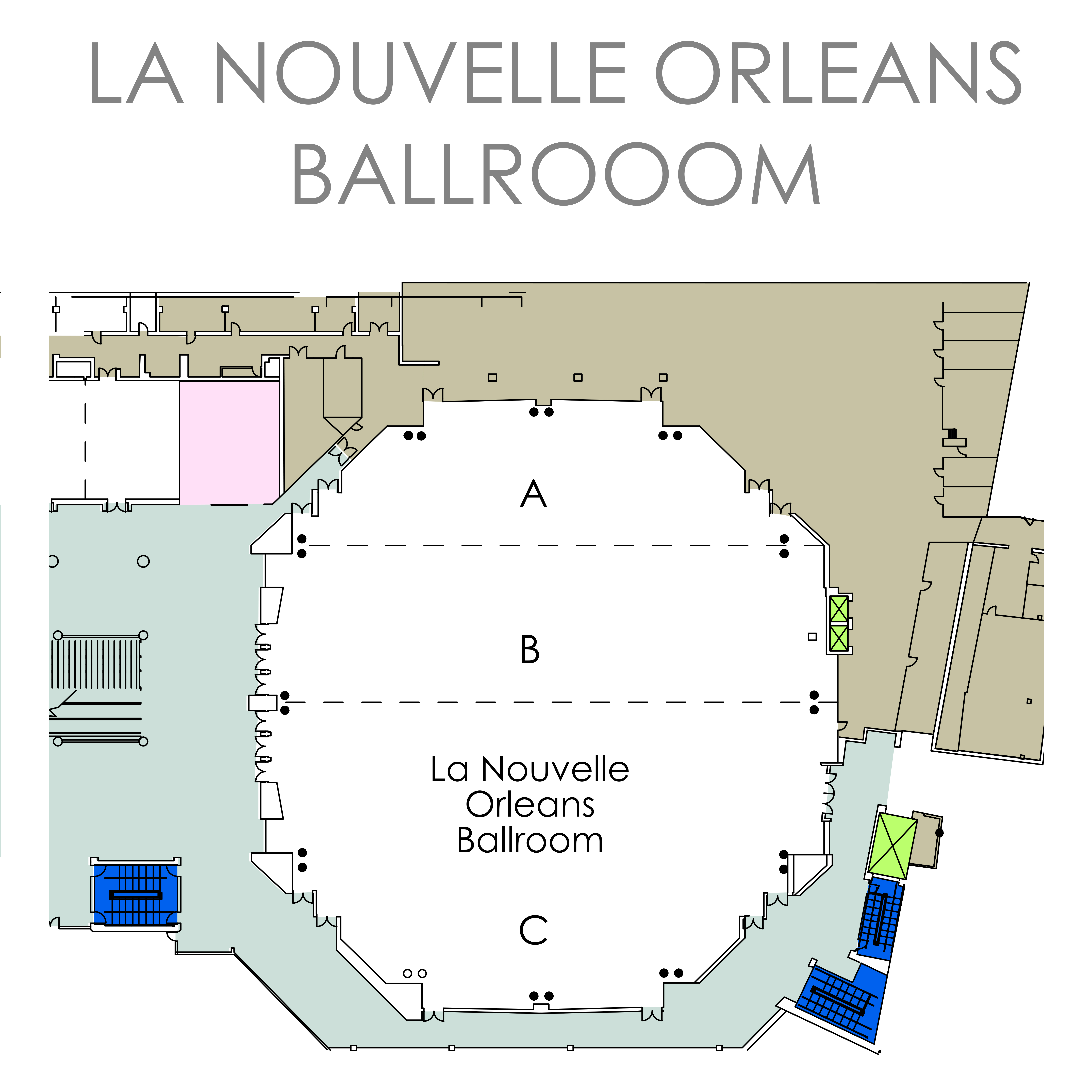 New Orleans Convention Center Map Maping Resources