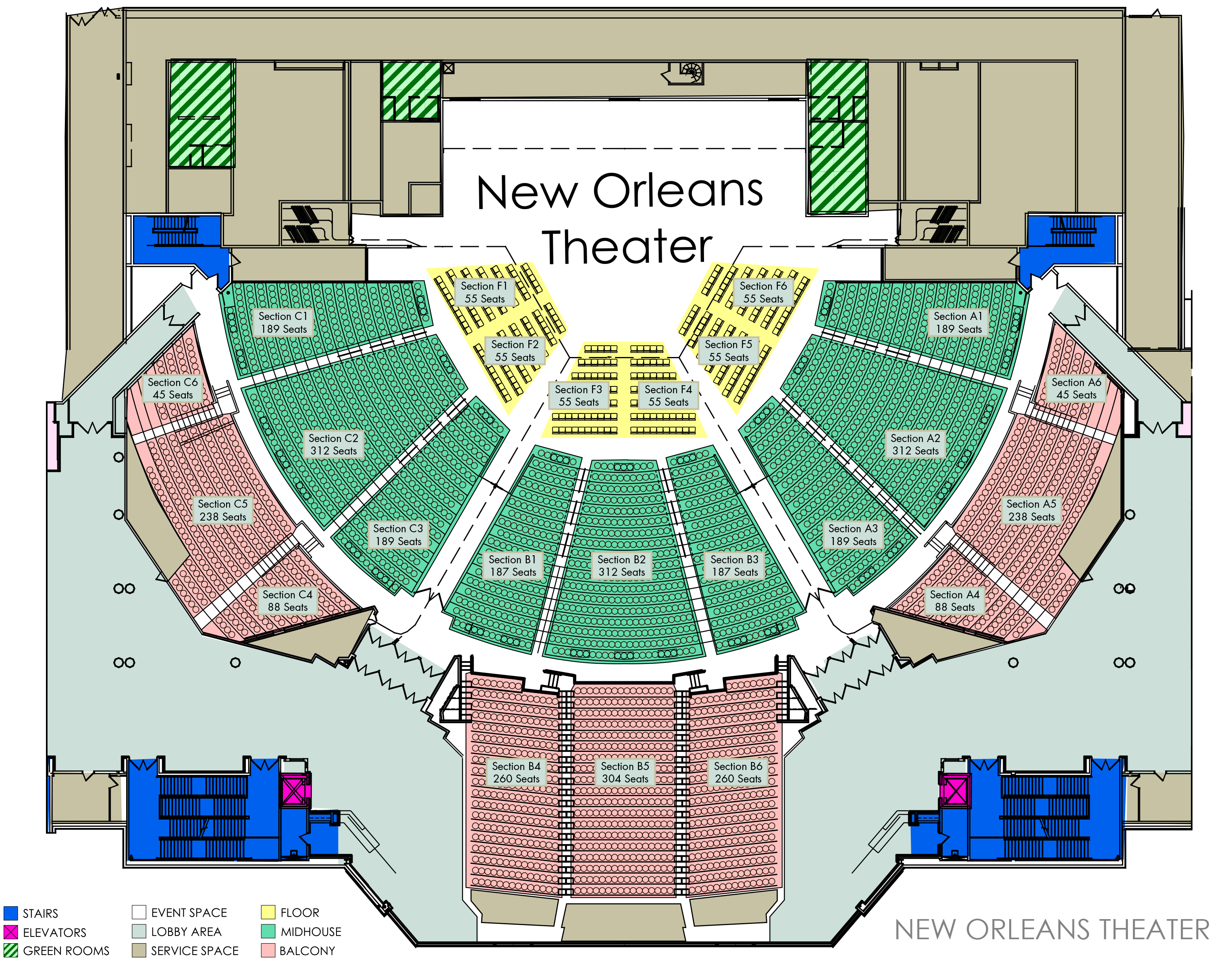 Floor plans ernest n morial convention center for New floor plans
