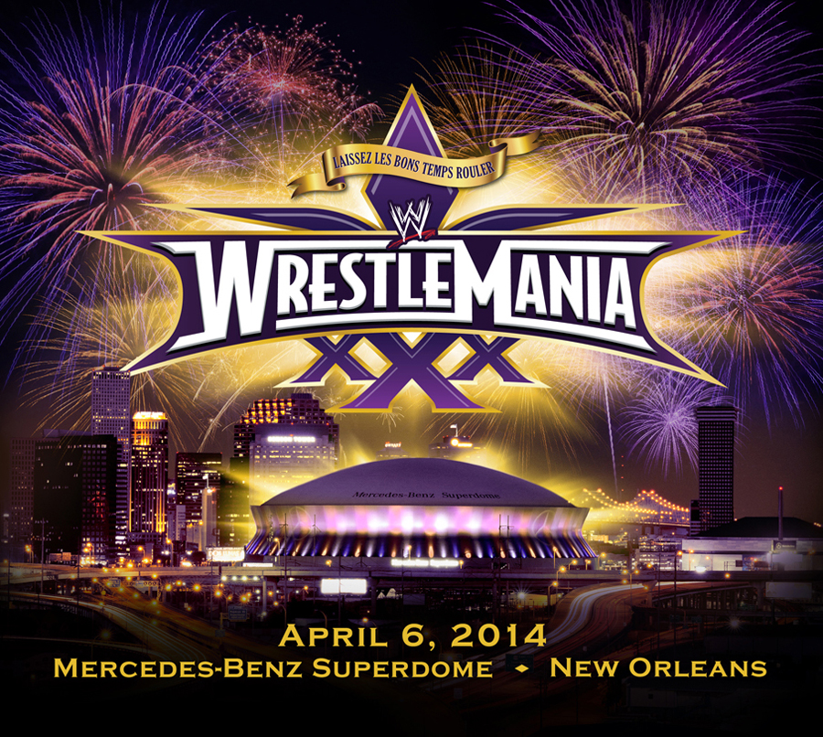Wrestlemania 30 tickets on sale saturday november 16 for Mercedes benz superdome parking prices