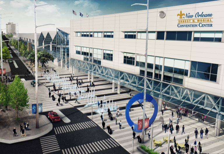 Concept Rendering of Future Pedestrian Park at the New Orleans Ernest N. Morial Convention Center
